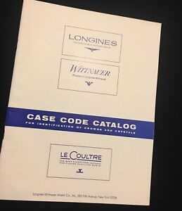 Lecoultre-Longines-Wittnauer-36-pg-watch-case-code-book-for-crystals-and-crowns