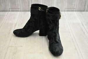 Nine-West-Quilby-Textured-Fabric-Ankle-Boots-Women-039-s-Size-6M-Black