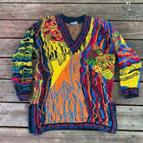 Vintage Coogi Sweater Multicolor casino style 90s