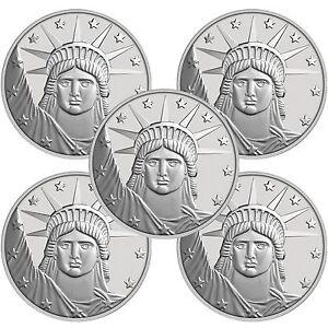 Silvertowne Lady Liberty 1 Oz 999 Fine Silver Round Lot