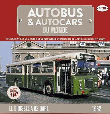 BROSSEL A 92 DARL 1962 VALENCIENNES  au 1//43° AUTOBUS /& AUTOCARS DU MONDE