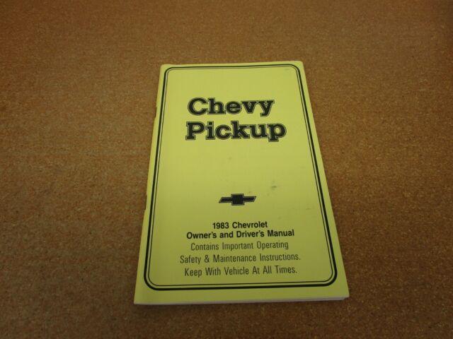 1983 Chevrolet Chevy Pickup Truck C  K K10 K20 C10 Owners