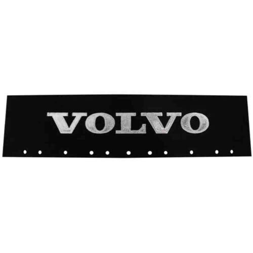 "Volvo Black /& Silver 6/"" x 24/"" Semi Truck Mud Flap-quarter Fender Flaps-Pair"