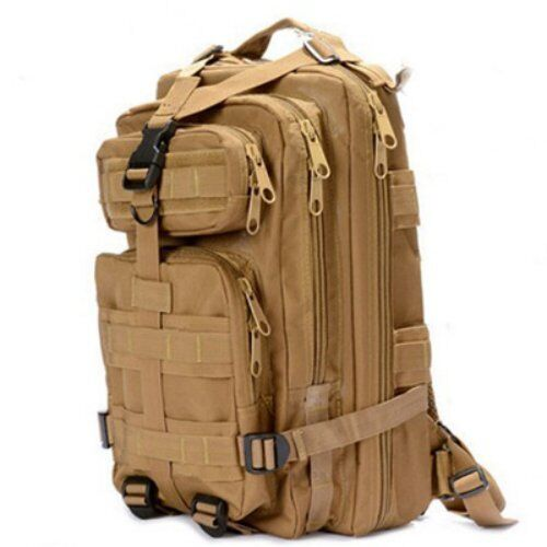 """New 17/"""" Tan BACKPACK DAY PACK Bug Out Bag Survival Tactical Military Emergency"""