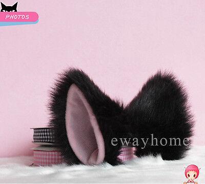 1 pair Lolita fluffy Anime Cosplay Party long fur Fox ears Neko Cat ears