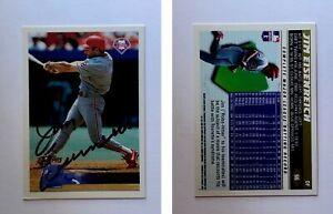 Jim Eisenreich Signed 1996 Topps #66 Card Philadelphia Phillies Auto Autograph