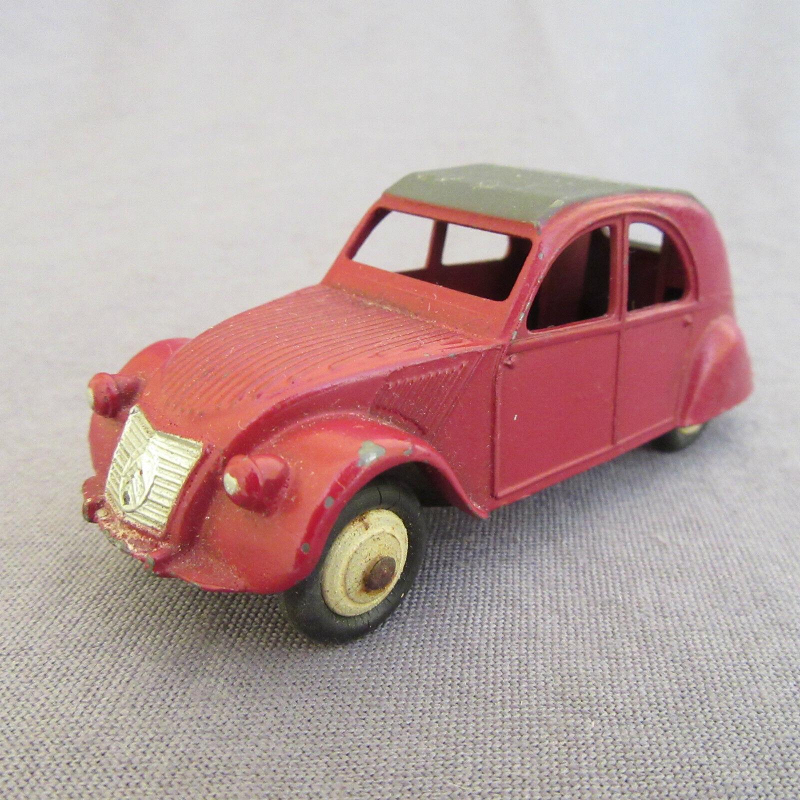 332E Vintage Dinky 24T Citroën 2cv Bordeaux 1 43