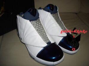 hot sale online 5f69f 5f246 Image is loading Nike-Air-Jordan-XVI-16-Retro-MIDNIGHT-NAVY-