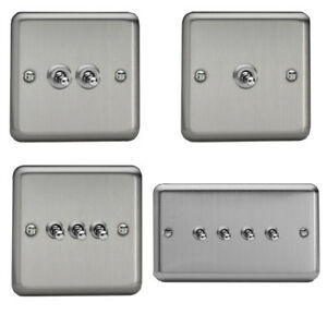 Varilight-1-4-Gang-Matt-Chrome-Toggle-On-Off-Light-Switches-Classic-Plate