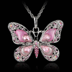 Bijoux-Crystal-Women-New-Long-Holiday-Gift-Fashion-Butterfly-Necklace-Jewelry