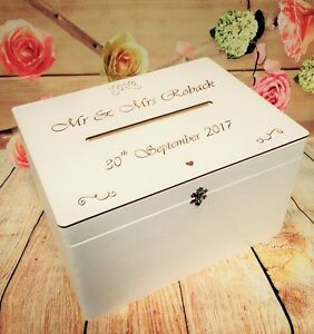 Wedding Card Wishes.White Lockable Wedding Card Drop Box Guests Wishes Post Box