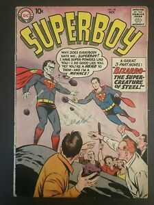 Superboy-68-first-printing-original-100-complete-1958-DC-Comic-Book-1st-Bizarro