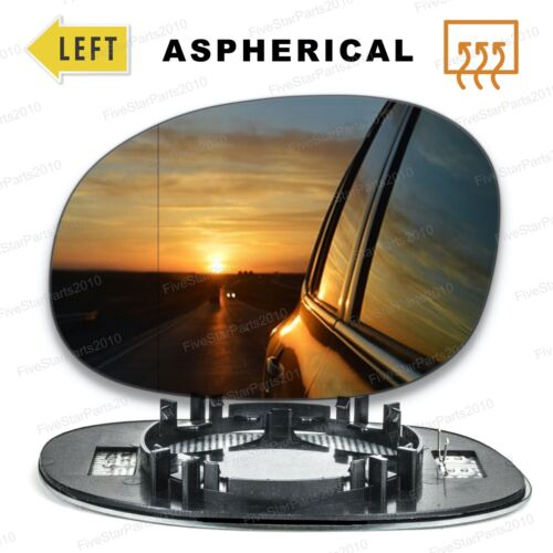 Left side Wide Angle wing mirror glass for Peugeot 206 1998-2010 Heated