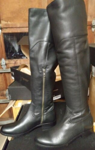 Frye Melissa Western Over the Knee Black Boots New in Box