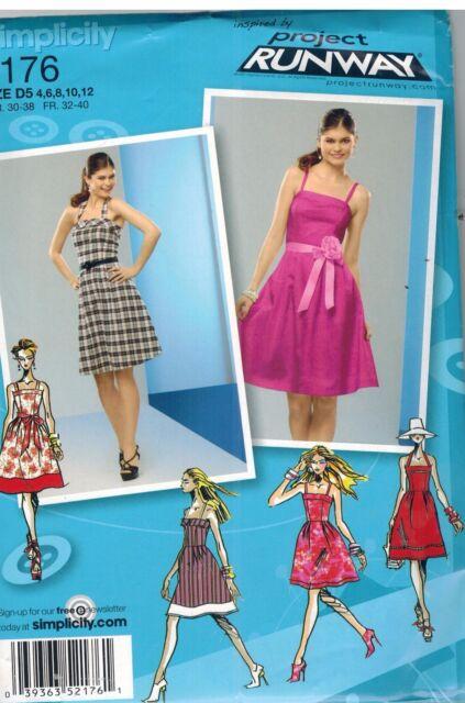 2176 UNCUT Simplicity Pattern Misses Project Runway Dress Spring Sundress Summer