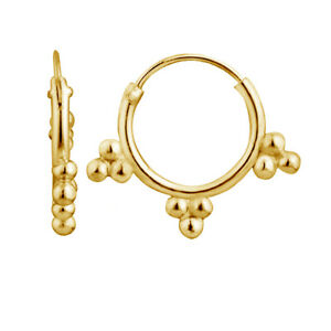 Chapado-en-Oro-Amarillo-aro-pendientes-tribales-en-plata-esterlina