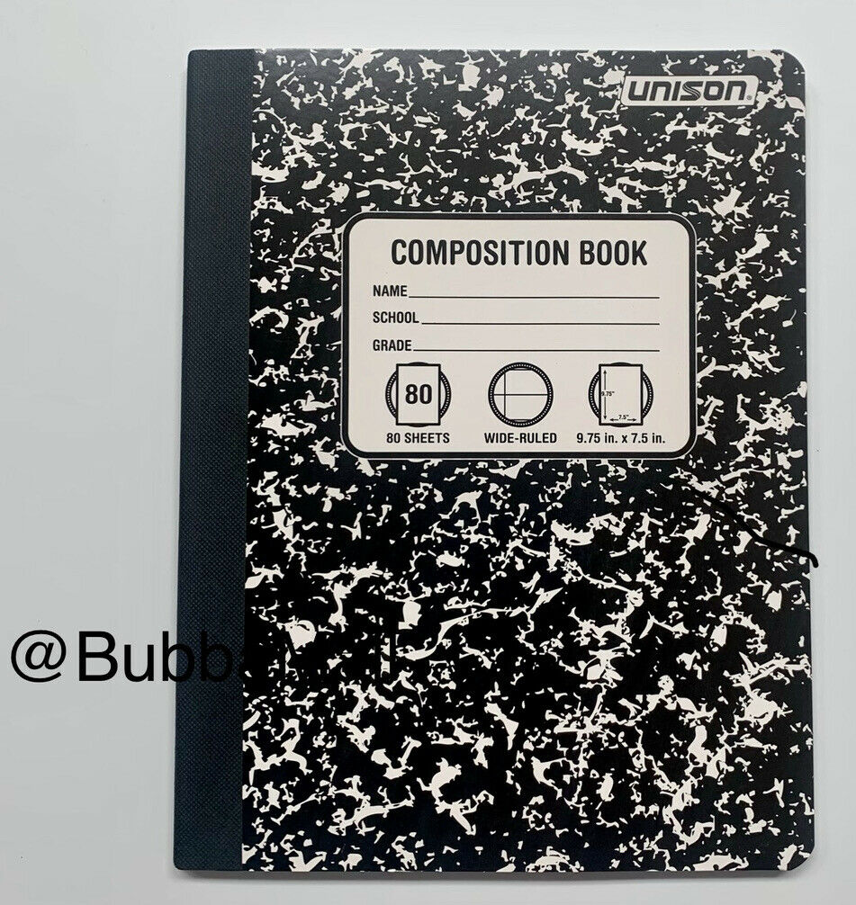 10 Pack Unison Composition Book 80 Sheets Wide Ruled 9.75 x 7.5 inch NEW