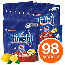 98 Pastiglie Finish Powerball AIO Tutto in Uno Max Lemon per Lavastoviglie