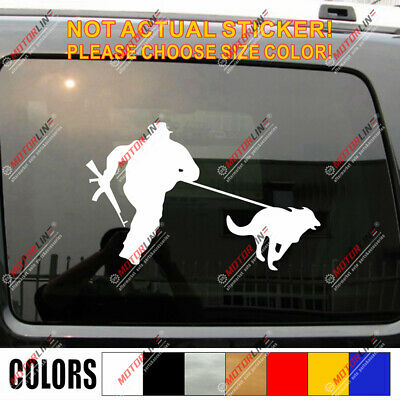 Police K9 Dog Decal Sticker Car Vinyl German Shepherd Training pick size color