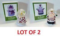 Santa Or Snowman Gliterry Snow Globe Changes Color Home Christmas Decoration