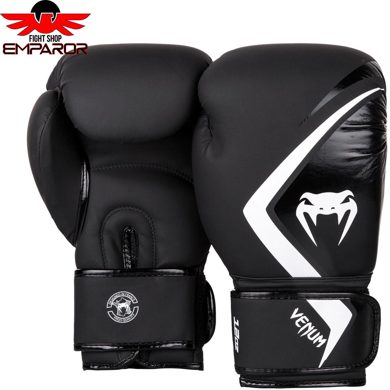 Venum Venum Venum Contender 2.0 Boxhandschuhe Schwarz/Weiß Handschuhe Boxen Thai Sparring c5795a