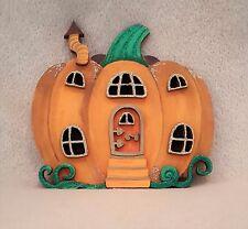Fairy Door - Handpainted Pumpkin Halloween Glitter Fairy Faerie Elf pixie door