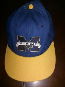 Blue University of Michigan Logo Adjustable Hat
