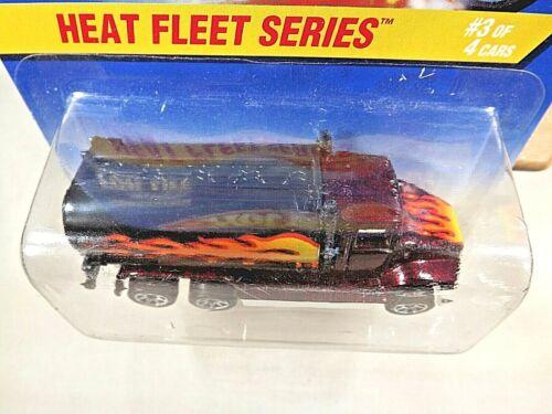 1997 Hot Wheels #539 Heat Fleet Series 3//4 PETERBILT TANK TRUCK Burgundy w//7 Sp