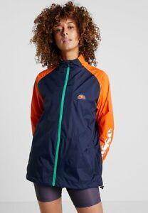 Ellesse-Womens-Jacket-Lightweight-Wind-Runner-Training-Zip-Up-Rifair-Navy