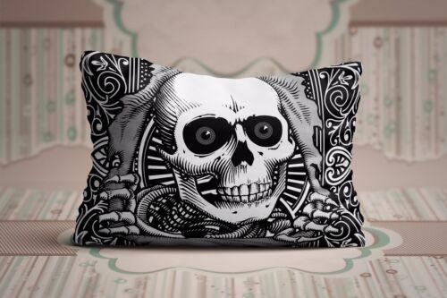 POWELL PERALTA Bones Brigade Aviator Skull 80s Skate Zippered Pillow Cases 20X30