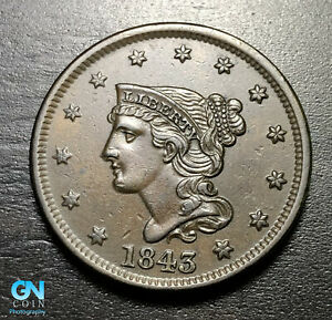 1843-Braided-Hair-Large-Cent-MAKE-US-AN-OFFER-B3899