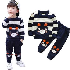 15f5b50a6f3ce7 Kinderkleidung Baby Jungen Pulli T-Shirt Tops   Hosen Trainingsanzug ...