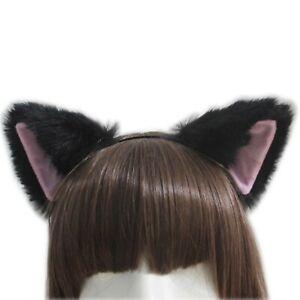 Cosplay Women Fur Girl Fox Cat Ears Party Costume Women Cute Headband Hair Hoop