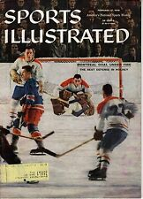 1958 2/17 Sports Illustrated,Hockey,magazine,Jacques Plante Montreal Canadiens V
