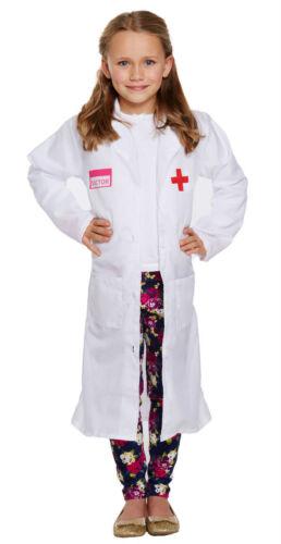 Bambino Dottore Girl/'s Fancy Dress Costume Bambini Età GIORNATA MONDIALE DEL LIBRO 2-12 anni