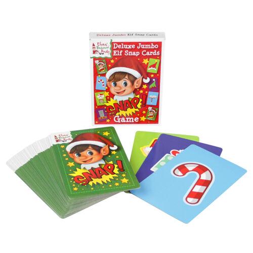 Elf Snap Cards Deluxe Jumbo Elf Card Game Christmas Stocking Filler Elves Cards