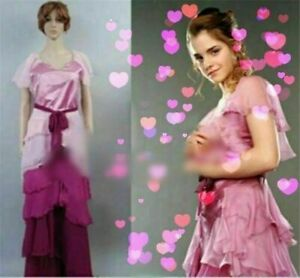 Details about Harry Potter Hermione Granger Yule Ball Gown Dress Cosplay  Costume Full