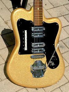 1964 Noble Grand Deluxe Sparkle Guitar by Crucianelli of Italy its magnificent