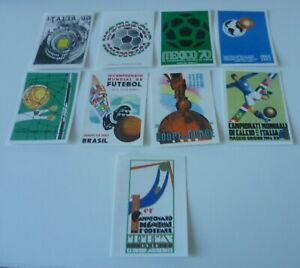 Panini World Cup Story * 9 different World Cup Poster Stickers * Mint Condition