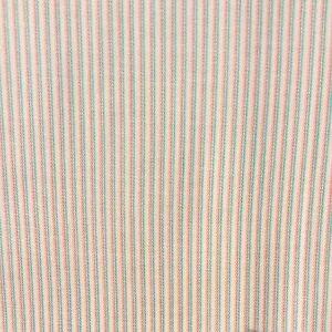Brushed-Cotton-Striped-Sewing-Fabric-Bone-Pink-Green-SOLD-x-1-2-metre