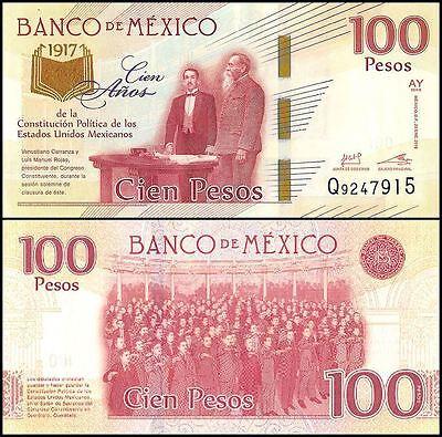 Mexico 100 pesos bill Centenary of the Constitution
