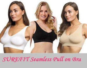 Ladies Seamless Comfort Pull On Bra Womens Shapewear By Surefit Size S-XXXL NEW