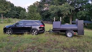 Mobile-BBQ-Smoker-36-Grill-Trailer-Catering-Food-Truck-Concession-Business-Cart
