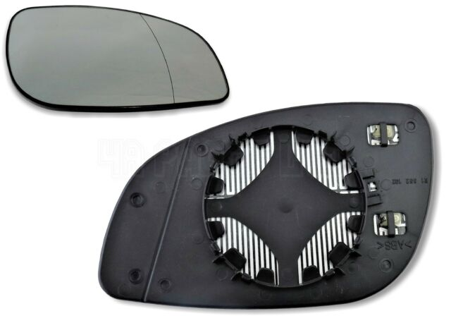 Right hand driver side for Vauxhall Vectra C 03-08 Wide Angle wing mirror glass
