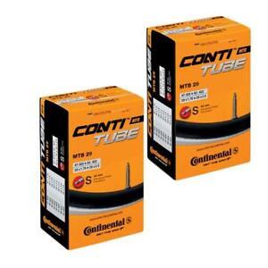 2-x-Continental-MTB-29-Mountain-Bike-inner-tube-Presta-Valve-1-75-to-2-5