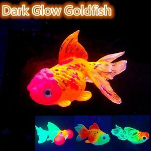 Glow in dark artificial simulation goldfish fish tank for Aquarium decoration for goldfish