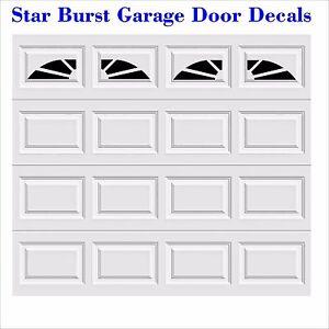 Image Is Loading Starburst Faux Window Garage Door Vinyl Decals Fits