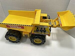 Tonka-Mighty-Motorized-Dump-Truck-Front-End-Loader-Construction-2000-Working