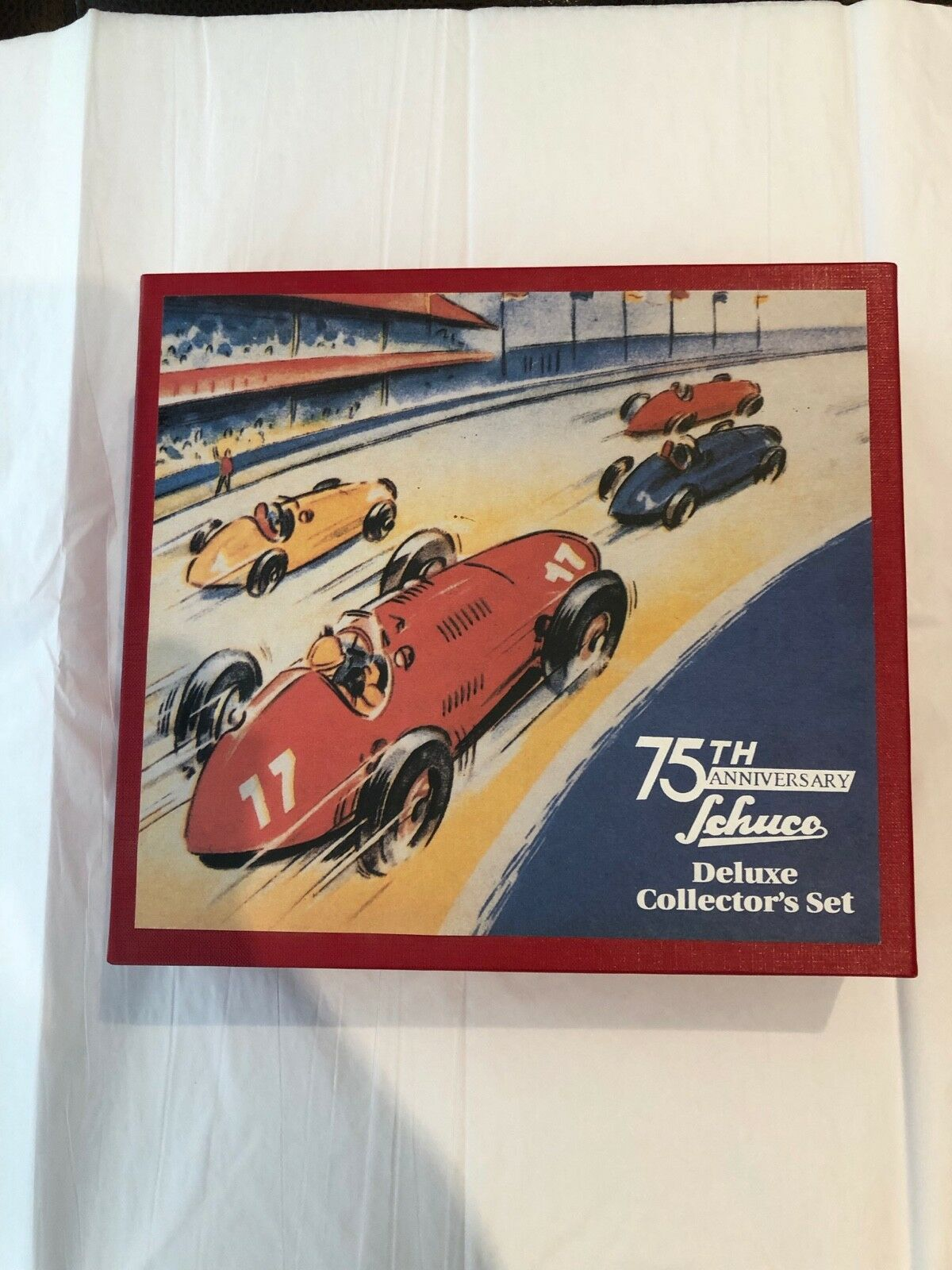 NOS Mint Schuco 75th Anniversary Deluxe Boxed Set Germany Red Mercedes Racers