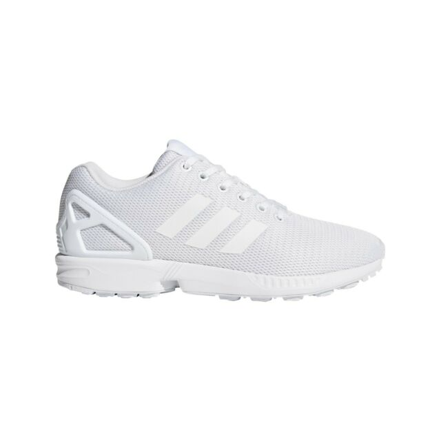Adidas Originals ZX Flux Shoes Unisex Casual Trainers All White  Sneakers[S32277]